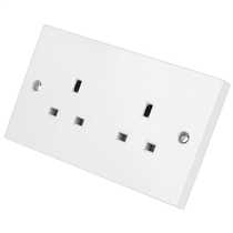 MS HD Power MS-9296S UK 2 gang wall socket for Audio and A/V, Silver