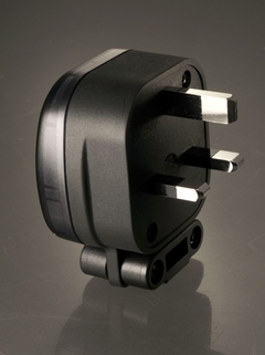 MS HD Power MS328Rh 13A UK mains plug, rhodium plated.